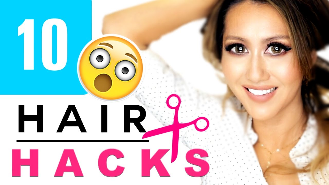 10-HAIR-HACKS-Hairstyles-Every-Girl-DOESNT-ALREADY-KNOW-Bang-Cutting-Beauty-Hack