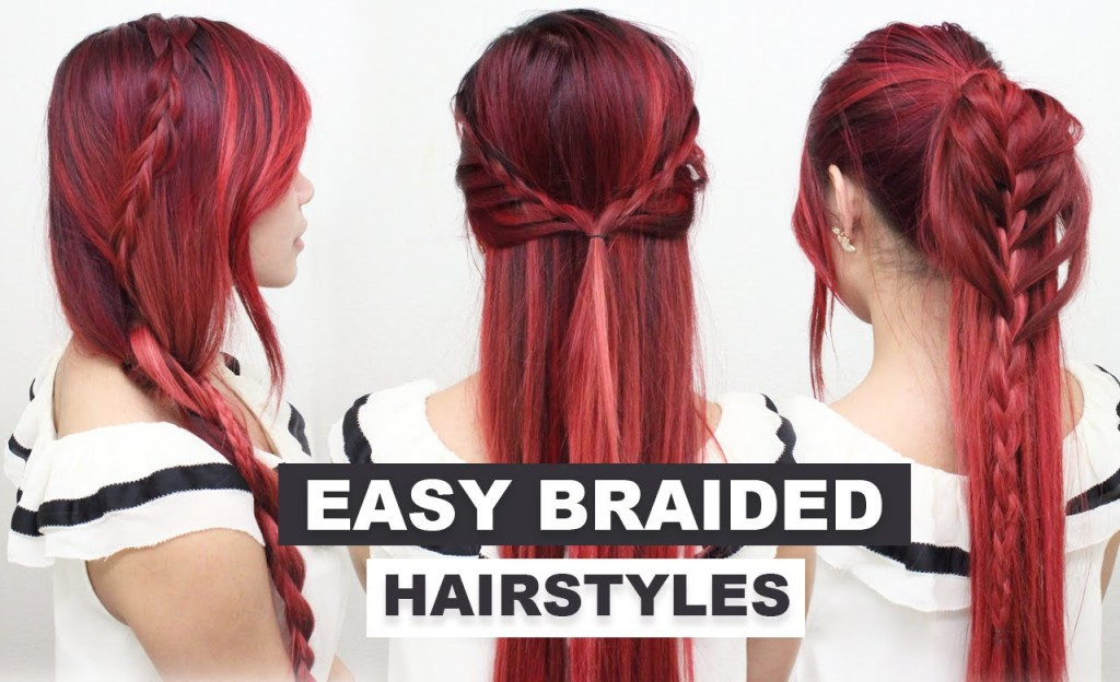 L Hairstyle: 4 Easy Braided Hairstyles L Cute Heatless Hairstyles For