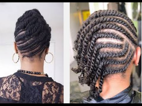Beautiful-easy-Flat-Twists-Hairstyle-on-Natural-Hair