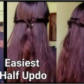 Easiest-1Min-Half-Updo-HairstyleEasy-party-hairstyles-for-medium-long-hairIndian-hairstyles