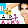 Lazy-girl-hairstyles-10-HAIR-HACKS-Every-Girl-DOESNT-ALREADY-KNOW-Bang-Cutting-Beauty-Hack