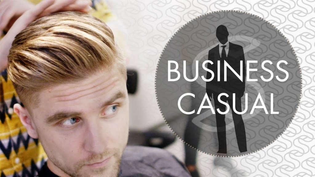 Professional Mens Hairstyling Business Casual Short Sides 4k