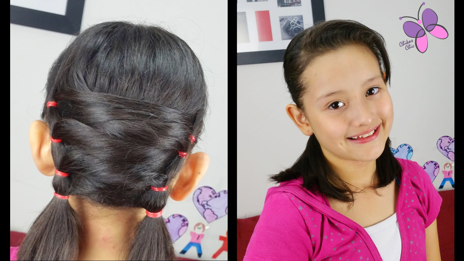 Uneven Pigtails Hairstyles for short Hair Easy Hairstyles Hairstyles ...