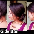 2-Min-Side-BunIndian-hairstyles-for-saree-for-medium-to-long-hairpromparty-hairstyles