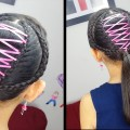 Corset-Ponytail-Cute-girly-Hairstyles-Hairstyles-for-School-Ribbon-Braid