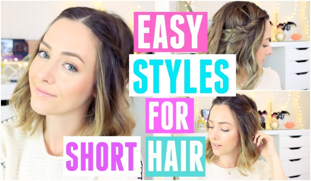 EASY FAST HalfUp Boho Hairstyles For Short Hair - Hairstyles for short hair fast