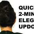 2-Minute-Quick-Easy-Elegant-Updo-Cute-High-Bun-Hairstyle-Medium-Long-Hair