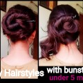 2-party-hairstyles-for-long-hair-with-bunstick-under-5-min.indian-hairstyles
