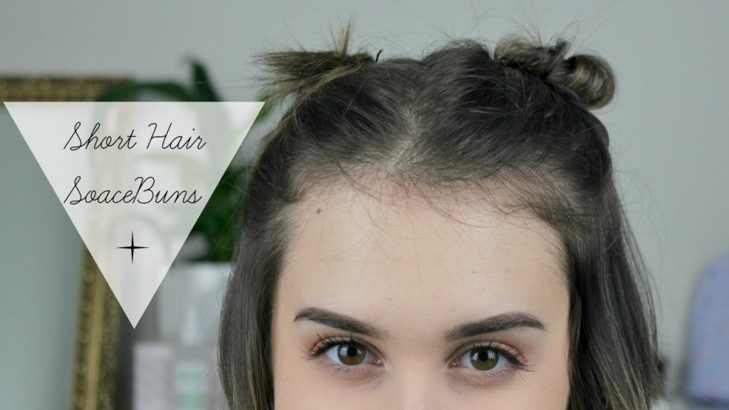 How to: Space Buns || Super Cute Hairstyles for Short Hair || Growing out a Pixie Haircut – HairStylesForAll.com