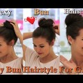 Sexy-Bun-Hairstyle-for-Girls-in-1-Minute-Cool-Hairstyles