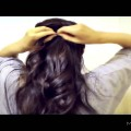 3-MIN-EASY-QUICK-EVERYDAY-HAIRSTYLES-HALF-UP-with-curls-PONYTAIL-UPDO-FOR-LONG-HAIR-TUTORIAL