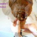 Braided-hairstyle-for-everyday-Updo-for-long-hair