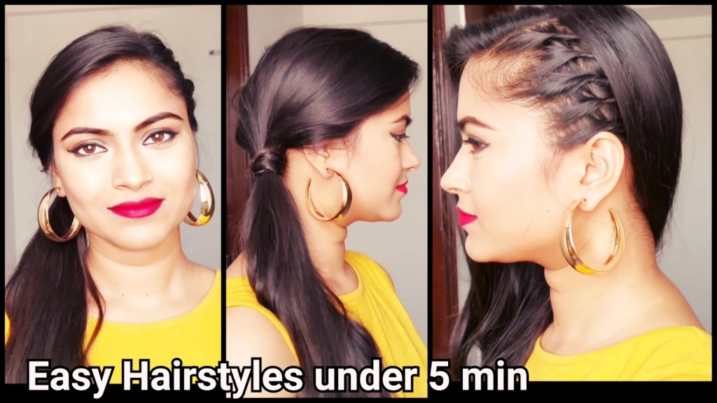 easy collegeoffice hairstyle for medium to long hair easy
