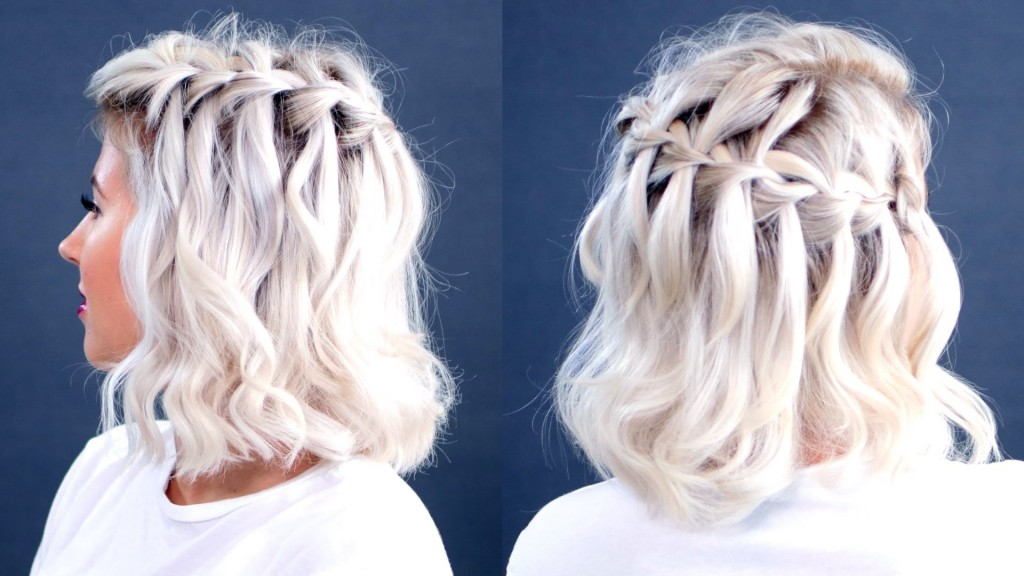 How To Waterfall Braid Short Hair Milabu