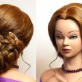 Updo-hairstyle-for-medium-long-hair.-Wedding-prom