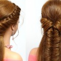 Braided-hairstyle-for-everyday.-Medium-long-hair-tutorial