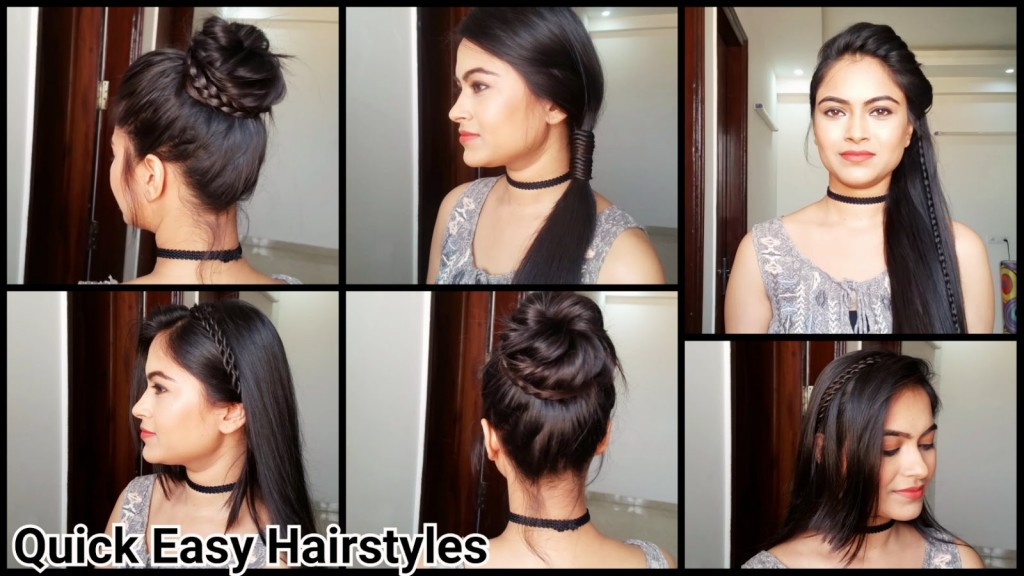 Pleasing Everyday Quick Easy Hairstyles Indian Hairstyles For Medium Long Short Hairstyles For Black Women Fulllsitofus
