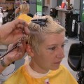 Pixie-hairstyle-in-a-Silver-gray-color-with-highlights-for-Ester-by-K.T.S.