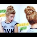 SERIOUSLY-EASY-MEDIUM-SHORT-HAIRSTYLE-UNDER-MINUTE-BUBBLE-BUN-Awesome-Hairstyles