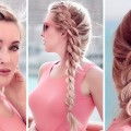 4-strand-chain-braid-hairstyle-for-party-everyday-Medium-long-hair-tutorial