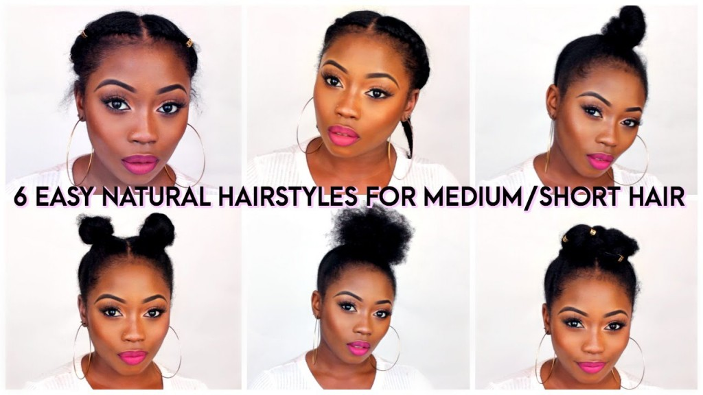 Enjoyable 6 Back To School Quick Natural Hairstyles For Short Medium Hair Short Hairstyles Gunalazisus
