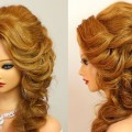Curly-hairstyle-for-promparty.-Medium-long-hair-tutorial