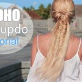 Cute-summer-hairstyle-for-medium-long-hair-Boho-chic-half-up-half-down-ponytail