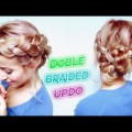 MEDIUM-SHORT-HAIRSTYLE-DOUBLE-BRAIDED-BUNS-UPDO-Awesome-Hairstyles