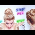 SHORT-HAIR-HAIRSTYLE-UNDER-2-MINUTES-PERFECT-TOP-KNOT-Awesome-Hairstyles