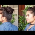 2-QUICK-Easy-Buns-with-BUNSTICK-Indian-Hairstyles-for-medium-long-hair-Hairstyles-Modelling