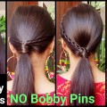 3-QUICK-EASY-2Min-Ponytail-Hairstyles-for-Medium-to-long-Hair-for-DIWALI-Indian-Hairstyles