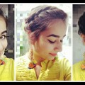 Easy-Bun-Hairstyle-for-Medium-to-Long-Hair-for-Diwali-and-Weddings-Indian-Hairstyle