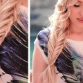 Fishtail-braid-with-a-twisted-edge-hairstyle-Long-hair-tutorial-with-extensions