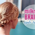 Glammed-up-milkmaid-braid-60s-look-Wedding-Prom-updo-hairstyle-for-long-hair-tutorial