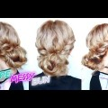 QUICK-AND-EASY-HAIRSTYLE-ROPE-BRAIDED-MESSY-BUN-UPDO-Awesome-Hairstyles