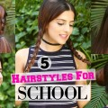 5-QUICK-EASY-1-Min-Hairstyles-For-School-College-Hairstyles-For-Girls-For-Medium-Long-Hair