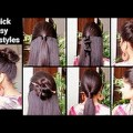 5-Quick-Easy-Hairstyles-for-medium-to-long-hair-Back-to-school-hairstyles-Indian-hairstyles