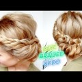 CUTE-EVERYDAY-MEDIUM-SHORT-HAIRSTYLE-ONE-SIDE-LACE-BRAID-BUN-UPDO-Awesome-Hairstyles