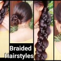 Hairstyles-for-medium-to-long-hair-Braided-4-Strand-BRAID-SIDE-BUN-Indian-weddings-Parties-2016