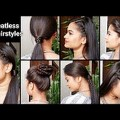 Natural-hair-growth-QuickEasy-everyday-Hairstyles-for-medium-long-hair-Indian-hairstyles