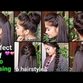 Stop-LOSS-HAIR-6-QUICK-EASY-Hairstyles-for-medium-to-long-hair-for-Diwali-Indian-hairstyles
