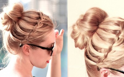 Waterfall-bun-hairstyle-for-back-to-school-everyday-Medium-long-hair-Hairstyles-Collections