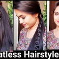 3-Heatless-HAIRSTYLES-for-Christmas-and-NEW-YEAR4-strand-braid-indian-hairstyles-for-long-hair