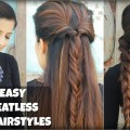 3-QUICK-EASY-Everyday-Braided-Hairstyles-For-Medium-To-Long-Hair-Heatless-Hairstyles
