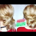 EASY-HAIRSTYLE-QUICK-MESSY-BUN-UPDO-Awesome-Hairstyles