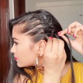 Easy-hairstyles-for-school-college-office-Indian-hairstyles-for-shoulder-length-medium-long-hair
