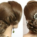 Hairstyles-for-long-hair-tutorial.-Elegant-wedding-updo.