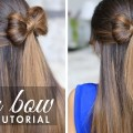 Half-up-Hair-Bow-Cute-Hair-Tutorial-Cute-Beautiful-Hairstyles-Hairstyles-Collection
