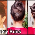 2-MESSY-BUNS-for-oily-hairEasy-Hairstyles-for-long-hair-for-collegework-DEEPIKA-PADUKONE