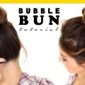 2-Minute-BUBBLE-BUN-Hairstyle-Easy-Hairstyles-for-Medium-Long-HairProjet-Diy